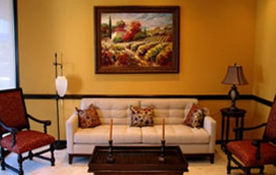 Waiting area at the office of Alexandra Garcia, DDS